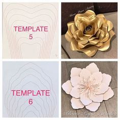 free rose paper flower template koni polycode co