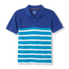 2cd8e42cb598 The Childrens Place - A classic polo styled with stripes - his go-to on