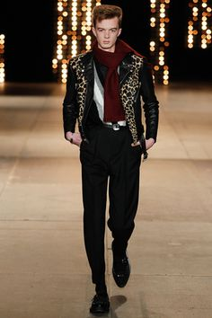 Saint Laurent Fall 2014 Menswear Collection Slideshow on Style.com