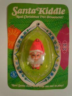 Vintage Mattel 1968 Santa Kiddle Christmas Tree Ornament