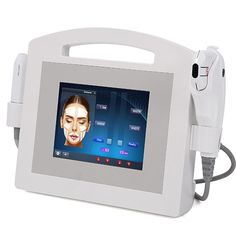 Facial Ultrasonic Machine 2IN1 Ultrasound Hifu Beauty System Non Surgical Facelift, Pulse Light, Subcutaneous Tissue, Thermal Energy, Face Treatment, Ultrasound, Plastic Surgery, Beauty Tips, Facial
