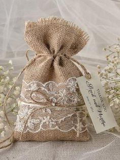 Lace Rustic Favor Bag Rustic Wedding Bag Lace by 4LOVEPolkaDots, $2.00 by jodi