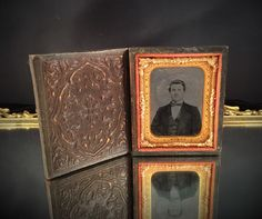 A personal favorite from my Etsy shop https://www.etsy.com/listing/225844669/antique-photo-portrait-leather-tin-type