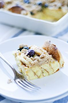 lemon, ricotta and blueberry overnight pancake casserole