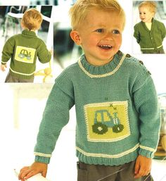 I have 2 other Tractor Patterns for sale so make sure you have a look ! Knitting Pattern Copy. Tractor Motif. Sweater & Jacket. DK Wool. You will receive a quality photocopy of the pattern. N.B This is not for the original pattern or the finished item.   eBay!