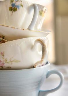 Vintage Tea Cups, I've always loved how dainty they are.