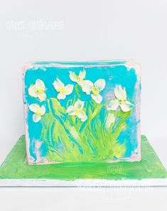Palette Knife Painting, Custom Cakes, Create, Desserts, Personalized Cakes, Tailgate Desserts, Personalised Cakes, Dessert, Deserts