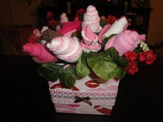Baby Shower Bouquet and Tutorial also would make a great corsage for the Mom to be.