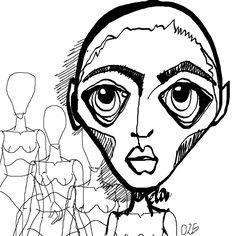 Cabezona025_asustada #cabezonasdeela #300cabezonasdeela #cabezonasdeela2017 #ilustración #illustration #caraqueños #migente