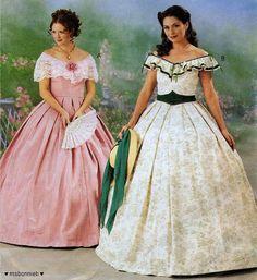 Misses' Southern Belle GWTW Scarlett O'Hara Dress Pattern M3597 - cool!