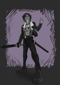 Nico di Angelo.Son of Hades. Another favorite character. | art by jinjinz
