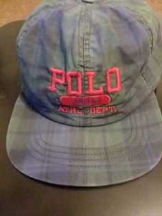 085d0e0820d Hats · Ralph Lauren Polo One Size Fits All Vintage 1994 Collection Velcro  Strap With.