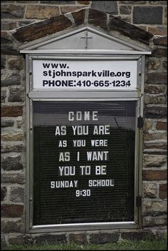 lol, a church that quotes nirvana might just be cool enough to check out.