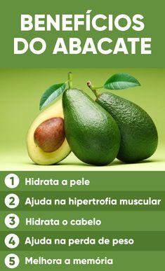 Os benefícios do abacate para a saúde incluem ajudar a hidratar a pele e os cabelos e melhorar a circulação sanguínea por conter gorduras saudáveis como o ômega 3, que atua como antioxidante e melhora o controle do colesterol.