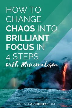 If you haven't given Minimalism a shot yet, let me try to convince you. It's a soulful process that can help change your life from chaos to brilliance in 4 steps. blog posts, motherhood, moms, parenting, minimalism, intentional living, purpose, schedule, planning, clutter, cleaning, overwhelm, stress, uncluttered, unclutter, destress, declutter, purge, purging, momlife, sahm, minimalist, minimal, home, house, space, room