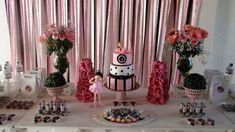 Decoração de Festa Bailarina preto e rosa