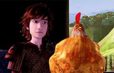 "Hiccup's like: ""Can't we just leave the chicken like this?"""