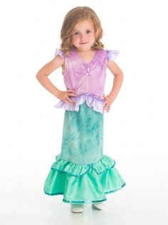"""Yes!  You can be a Mermaid like Ariel! Mermaid costume from Disney movie """"Little Mermaid"""" for girls."""