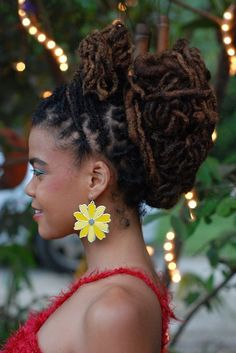 Gorgeous loc style - simply lovely!