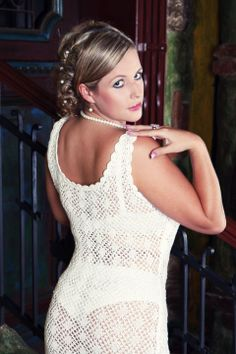 white lace summer dress or bridal style #bridal #summer #dress #bridal #lace #white #knitted