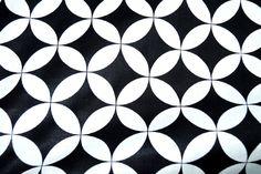 NB17 2465-069 Katoen fantasie zwart/wit