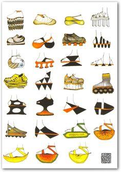 Shoes! by Masha D'Yans: Modern Paper Goods #modernpapergoods