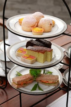 High Tea = stunning selection - love the Battenberg cake