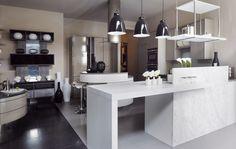 dise o de cocina moderna con isla de cocina redonda   Diseño ...