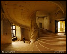 Escalier du Chateau de La Rochefoucault by Laurent CABRIT, via Flickr