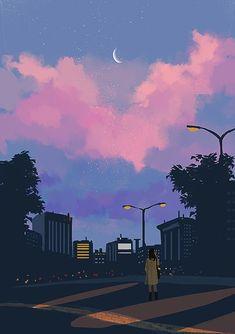 Ideas For Anime Art Fondos Art And Illustration, Aesthetic Art, Aesthetic Anime, Aesthetic Pictures, Vaporwave Wallpaper, Art Anime, Anime Kunst, Animes Wallpapers, Cute Wallpapers