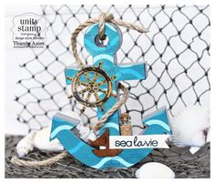 A 3D anchor home decor from Unity Company Stamps and Crate Paper