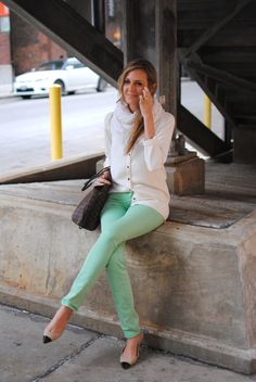 mint pants #See_Jane love these jeans
