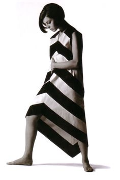 Marimekko cotton dress designed by Annika Rimala, 1967. Fabric designed by Vuokko Nurmesniemi.