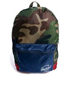 Herschel Packable Backpack in Camo Print