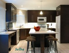 I Love A Black Cabinet Orangish Walls Kitchen Design But All