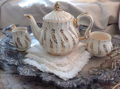 A personal favorite from my Etsy shop https://www.etsy.com/listing/401086141/vintage-sadler-teapot-creamer-and-sugar