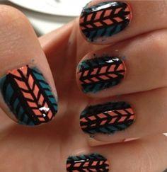 Double Herringbone nail art