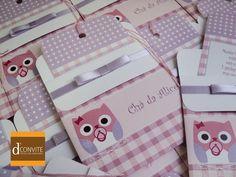 Convite Para Chá De Bebê Coruja   Dconvite   Elo7