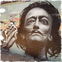 Immagine tramite We Heart It https://weheartit.com/entry/172950012 #art #salvadordali #streetart