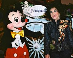Elizabeth Taylor at Disneyland