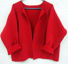 cut up a pullover sweat shirt to make a cardi.  Just the thing for when there is a chill in the air.