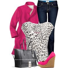 Pink Wedges and Cardi :)