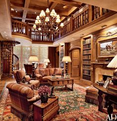 19 Trendy home library room fireplace Home Library Rooms, Home Library Design, Home Libraries, House Design, Public Libraries, Beautiful Library, Dream Library, Grand Library, Cozy Library
