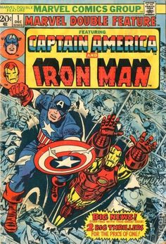 Shop Captain America & Iron Man Marvel Double Feature Poster created by marvelclassics. Marvel Comics Superheroes, Marvel Comic Books, Marvel Heroes, Comic Books Art, Comic Art, Comic Poster, Marvel Avengers, Poster Marvel, Marvel Characters