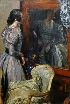 In the Mirror -Jacques Emile Blanche