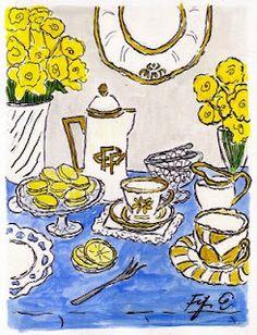 Fifi Flowers Painting du Jour Gallery: tea