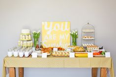 """You are my sunshine"" party theme :)"