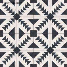 black & white tile.