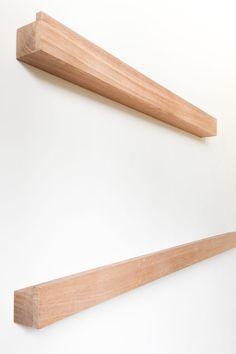 Shallow shelves in solid oak to hold your posters or photo frames. Custom made in any size you want! Shallow Shelves, Photo Ledge, Frame Shelf, Rolling Pin, Solid Oak, Nook, Hold On, Frames, Posters
