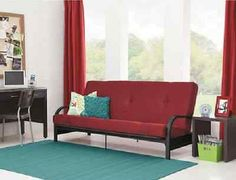 Futon-Bed-With-Mattress-Sofa-Dorm-Click-Clack-Bedroom-Furniture-Daybed-Full-Size